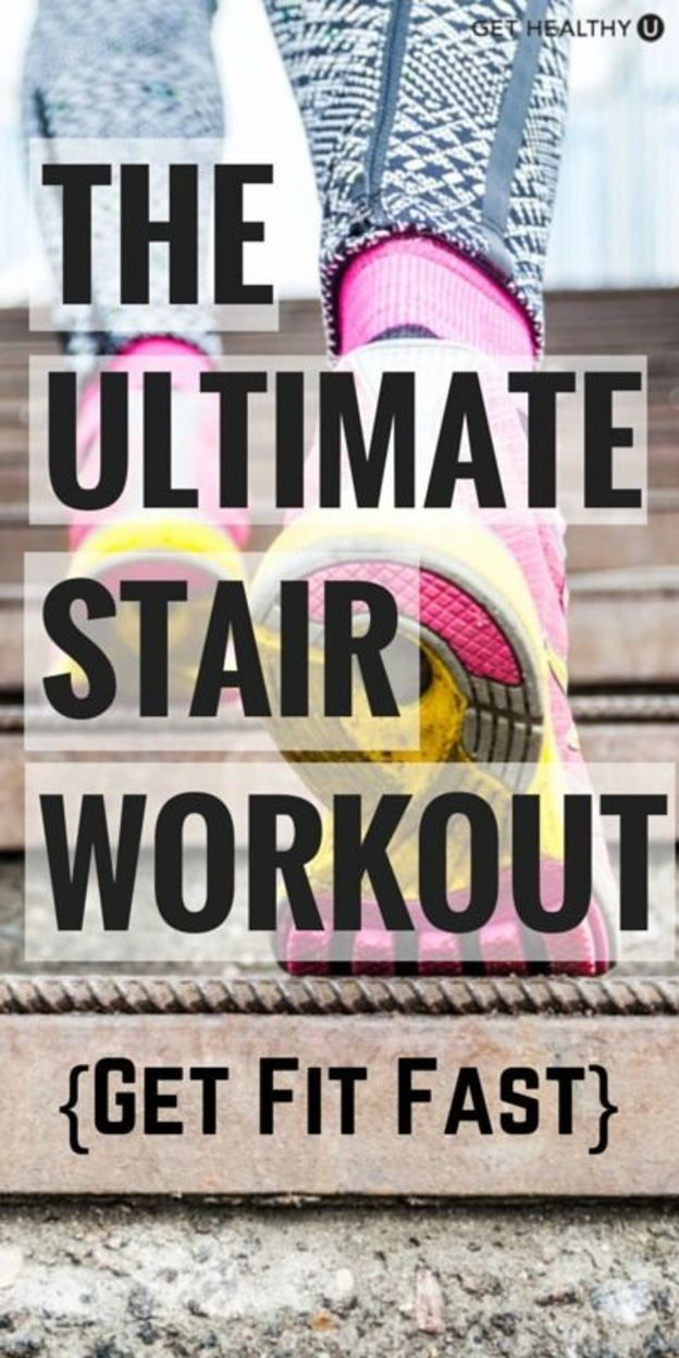 Try 8 different moves in this ultimate run the stairs workout! #strength #training #run