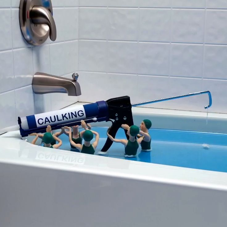 Prevent cracks by filling your bathtub with water before caulking. #lowesfixinsix