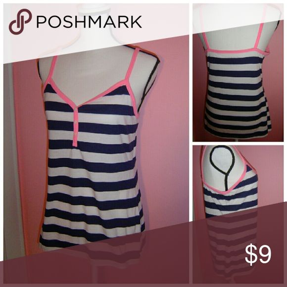 Ladies striped cami Fun nautical striped pattern / button detail on front / v-neck  / 60% cotton / 40% polyester Old Navy Intimates & Sleepwear