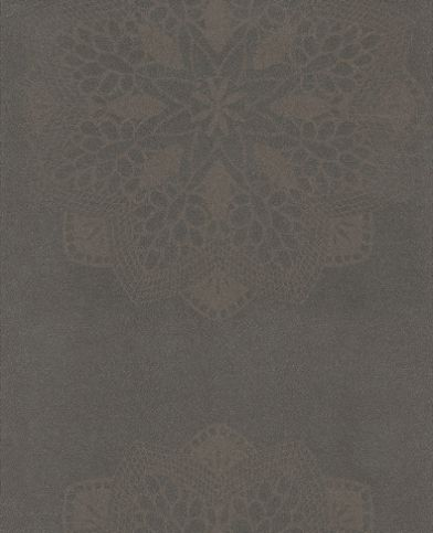 Saint Germain (STG1845 1524) - Casadeco Wallpapers - A pretty floral lace motif in a raised texture - showing in metallic chocolate brown. Other colour ways available. Please request a sample for true colour match. Paste-the-wall product.