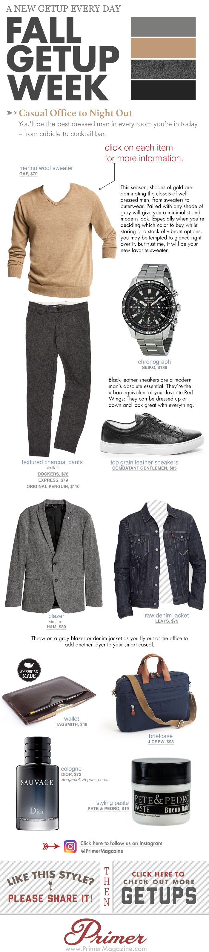 Thanks to Primer Magazine for including my Dark Brown Leather Flat Wallet in their Fall Getup.