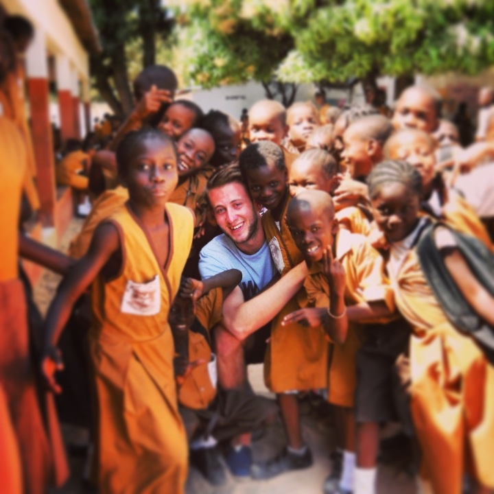Visiting the local school in The Gambia, Africa. Incredible people.