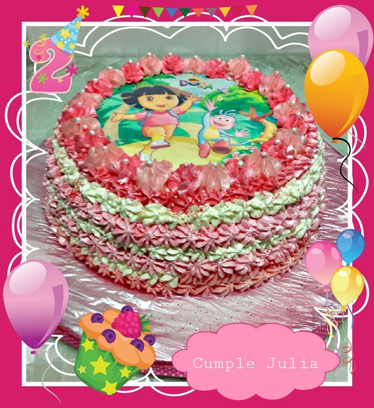 pastel de cumpleaños de Julia