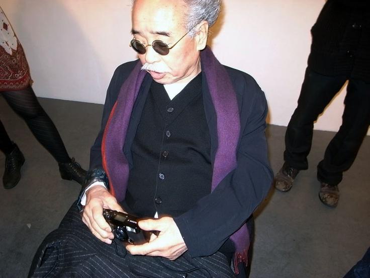 Shimokitazawa    Nobuyoshi Araki with his Fuji Klasse S