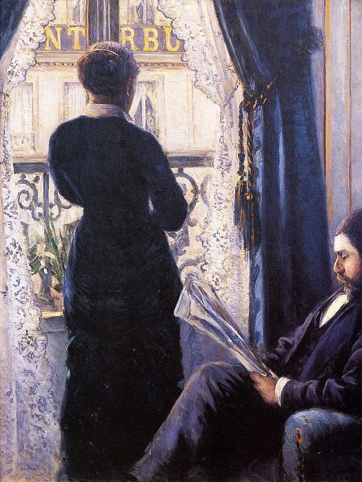 Interior (also known as View across the Balcony) - 1880. Gustave Caillebotte (1848-1894)