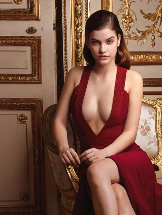 Palvin Barbara in stunning red dress