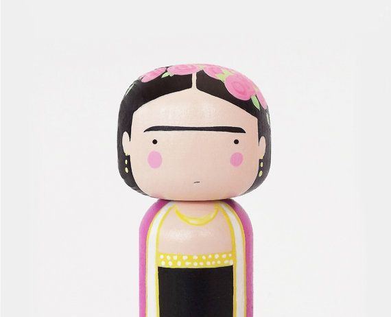 Frida Kahlo KOKESHI DOLL by SketchInc on Etsy