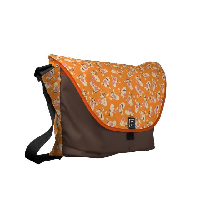 Winnie the Pooh Tigger Faces Pattern Courier Bag #Ad , #ad