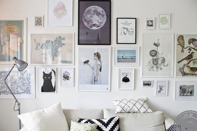 M s de 1000 ideas sobre colgar cuadros en pinterest for Decoracion de paredes con cuadros