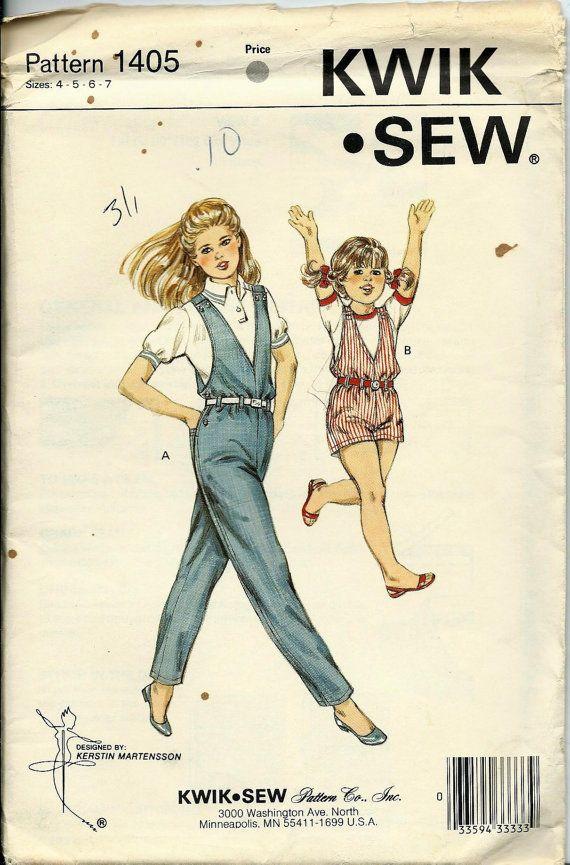 Kwik Sew 1405 Girls Jumpsuit Pattern Short by DawnsDesignBoutique, $9.99