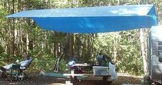 how to set up a tarp shade with adjustable tent poles