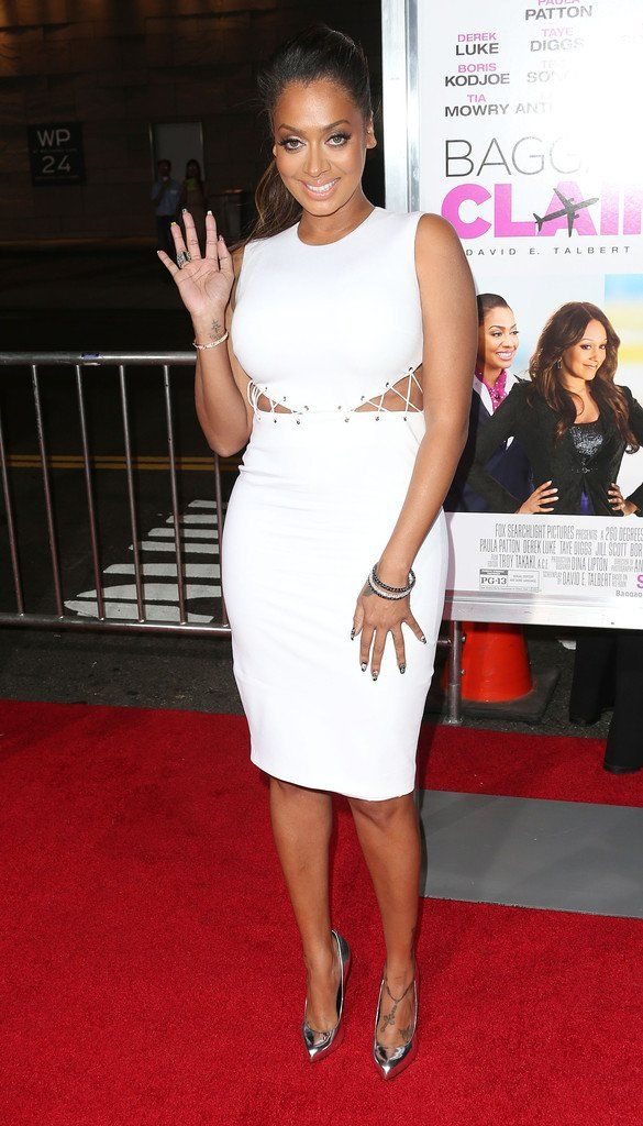 La La Anthony Baggage Claim White Dress Premieres