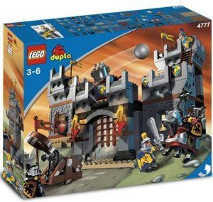 LEGO Duplo: Knights' Castle by LEGO. $389.99. Includes two good knights, two dragon knights, horse and catapult.. This amazing castle is easy for young builders to put together and good for hours of adventure. The brave and noble knights are ready to defend the castle against their foes. If the enemies get too close, the knights can dump a cauldron of bricks on them. But watch out! The evil dragon knights have a catapult that can launch rocks over the walls. Includes two...