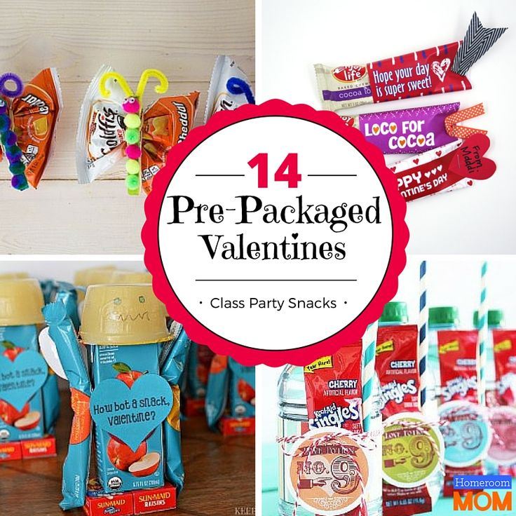 14 Prepacked Valentine's Day Class Party Snacks