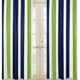 Found it at Wayfair - Navy Blue and Lime Green Stripe Curtain Panels