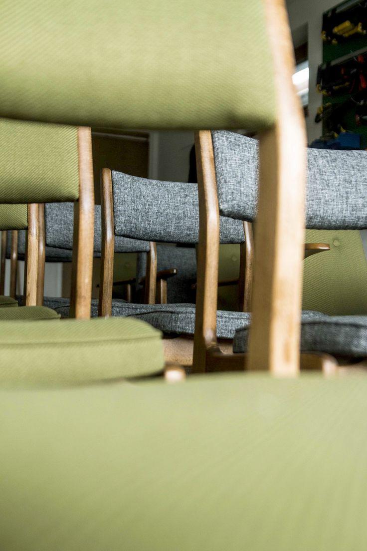 Krzesło Aster. Renowacja: Lekka Furniture. Chair design.