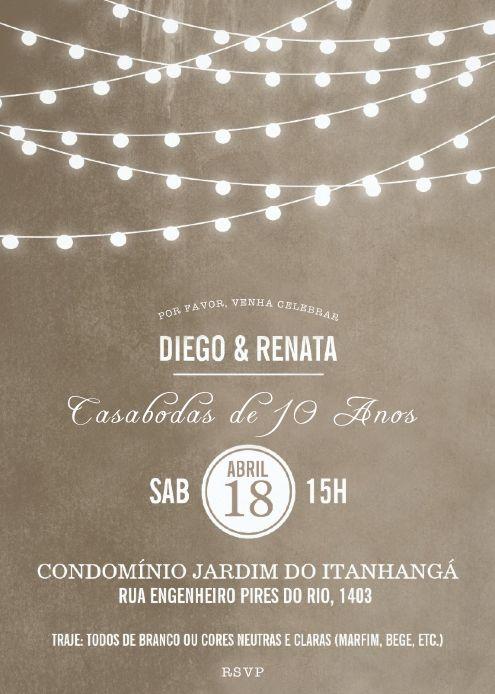 Convite Casabodas Di & Rê