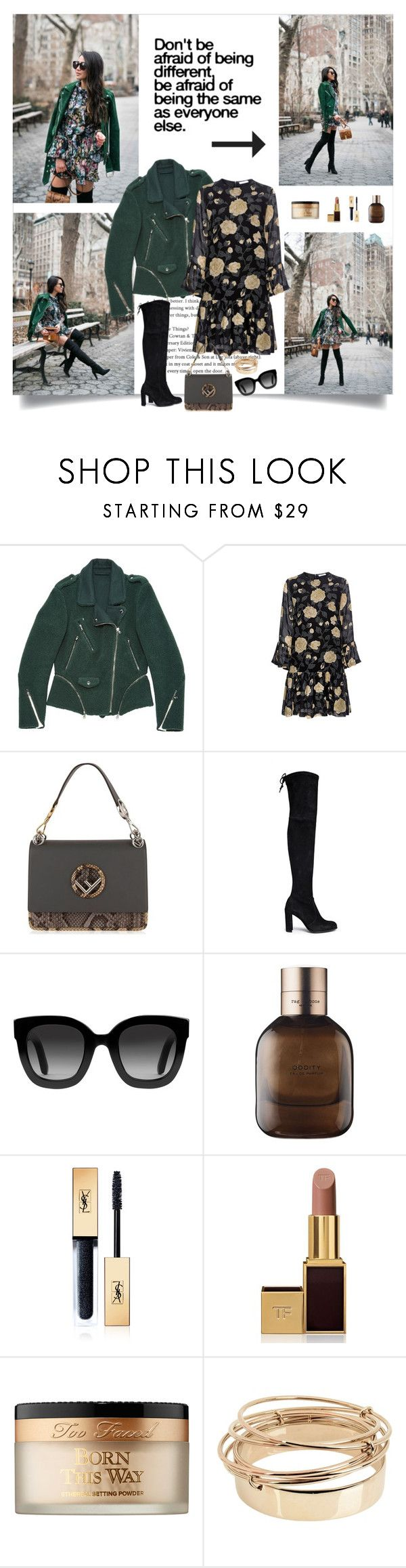 """Don't be afraid of being different"" by danniss ❤ liked on Polyvore featuring 3.1 Phillip Lim, Ganni, Fendi, Stuart Weitzman, Gucci, rag & bone, Yves Saint Laurent, Tom Ford, Too Faced Cosmetics and Valentino"