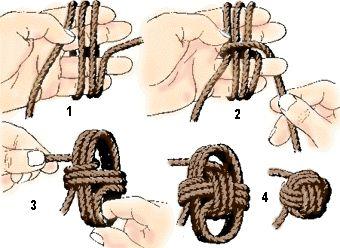 (4) Quatro Patinhas: Bola nó de marinheiro