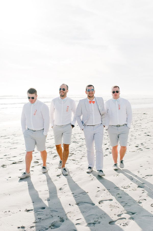 groomsmen in shorts - photo by http://blog.nadiameli.com/ - http://ruffledblog.com/western-cape-beach-wedding/