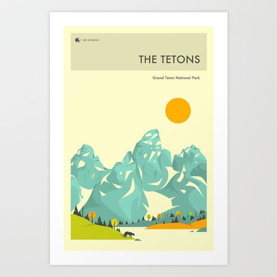 GRAND TETON NATIONAL PARK POSTER by Jazzberry Blue @society6 #poster #national #park #travel #color #home #decor #apartment #college #dorm #products #digital #chic #fashion #style #gift #idea #society6 #design #shop #shopping #buy #sale #fun #accessory #accessories #art #digital #contemporary #cool #hip #awesome  #sweet