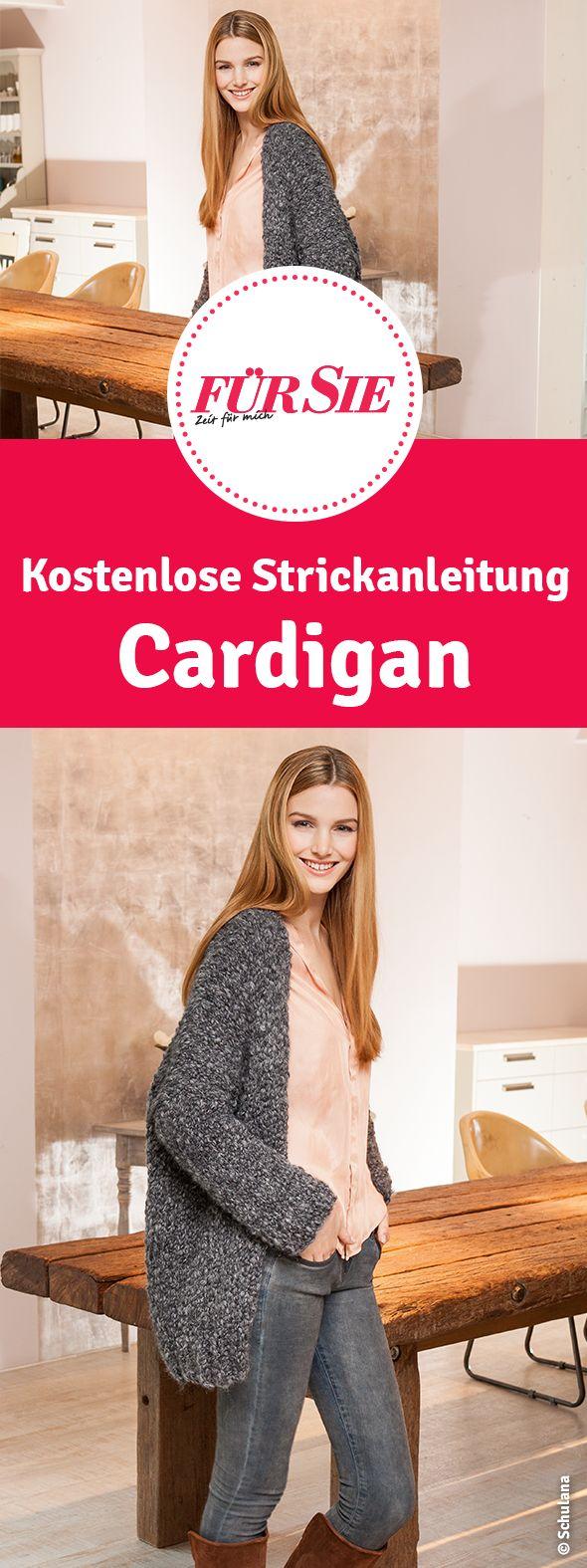 kostenlose Strickanleitung Cardigan selber stricken mit Strickmuster