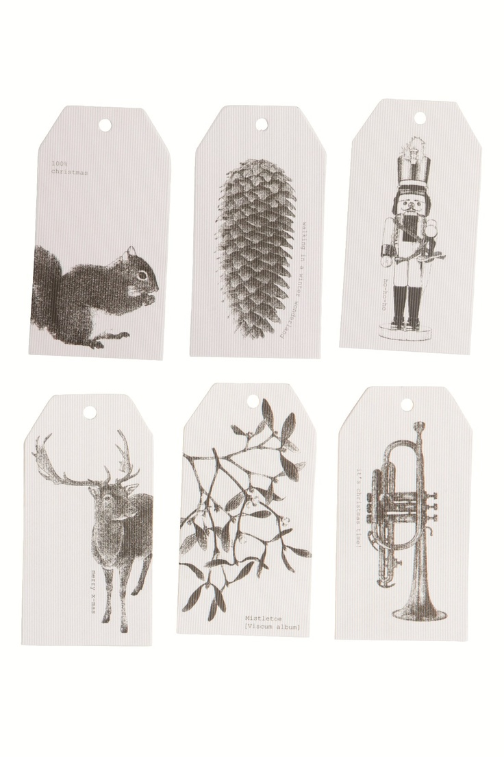 24 House Doctor Gift Tags Lithography ❥