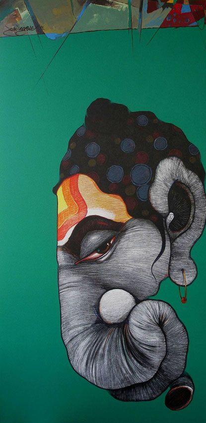 Sanjay Sable | Paintings by Sanjay Sable | Sanjay Sable Painting - SuchitrraArts.com