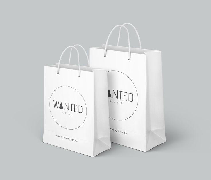 Wanted Wear, bags #wantedwear #design #paperbags #zlapmnie