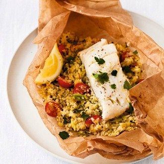 Steamed Fish with Couscous Parcels Recipe Ideas - Healthy & Easy Recipes