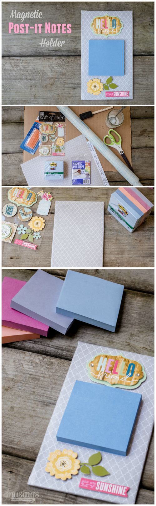 magnetic post it notes holder - Homemade Bedroom Decor