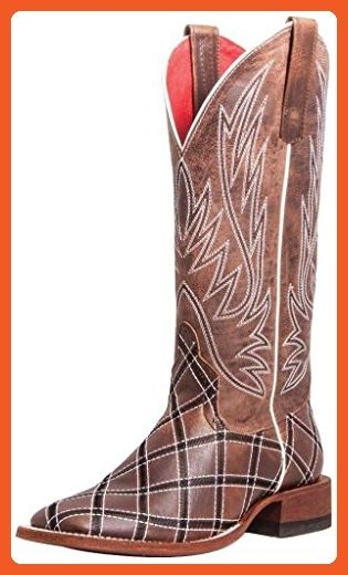 Macie Bean Women's Anderson Boot Sabotage Cowgirl Square Toe Mocha 8 M US - Boots for women (*Amazon Partner-Link)