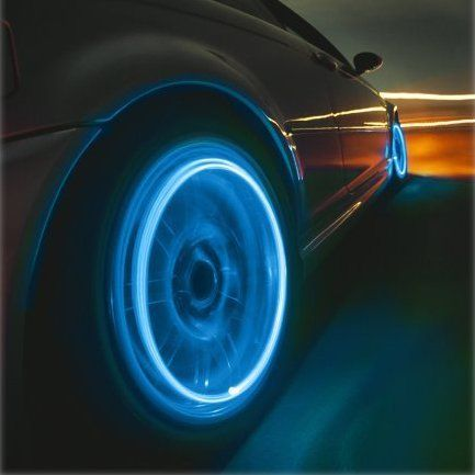 Neon Blue Strobe LED Tire Valve Caps  $2/piece