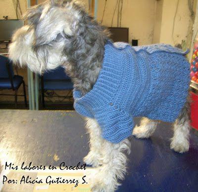 Este es el paso a paso del suéter para perro que yo les hago a mis mascotas, tratare de explicarlo lo mas claro posible, cualquier duda pu...