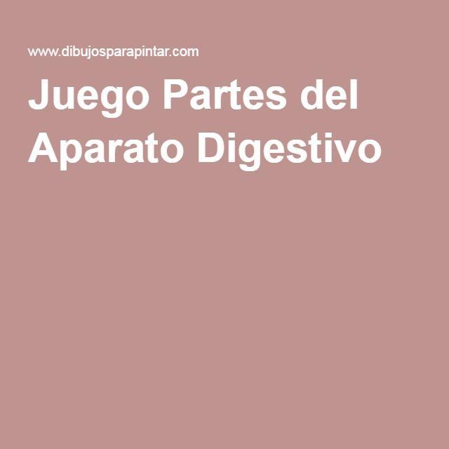 Juego Partes del Aparato Digestivo