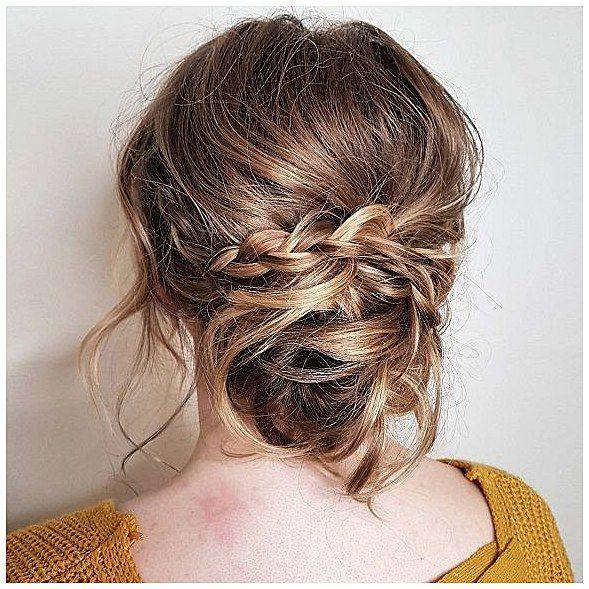 Boho messy bun hairstyles,Messy updo hairstyles, braid hairstyle to try ,boho hairstyle,easy hairstyle,updo,prom hairstyles,side braided with updo hai...
