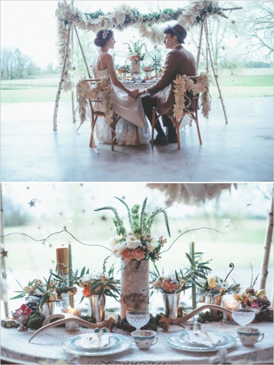 Dreamy sweetheart table ideas with vintage touches. Captured By: Hazelwood Photo #weddingchicks http://www.weddingchicks.com/2014/06/18/give-the-groom-a-real-cake/