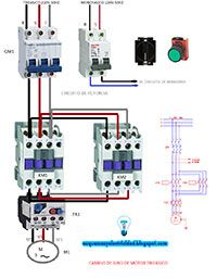 Esquemas eléctricos: Cambio de giro motor trifásico