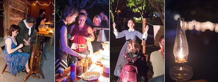 Visitors enjoy food and entertainment at the Black Creek Pioneer Village Light Up the Night event