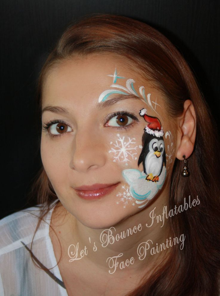 Christmas, Penguin Face Painting By Alfiya Kuziw, Let's Bounce Inflatables Ltd. Burnaby, BC