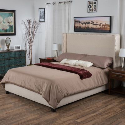 Darby Home Co Hagins Upholstered Panel Bed Products Bed, Bedding