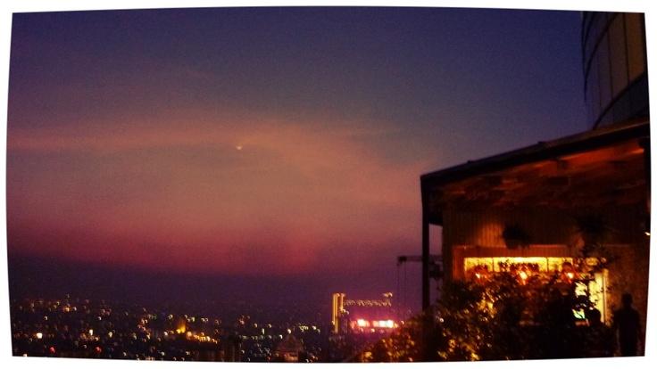 Red sky and the city, 52 floor below   Skye Jakarta, Nov 2012