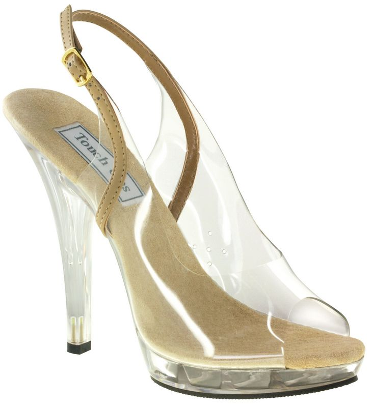 Taupe Touch Ups May Bridal Shoes 6799 Sexy Vinyl Peep Toe Sling Backs Allow The