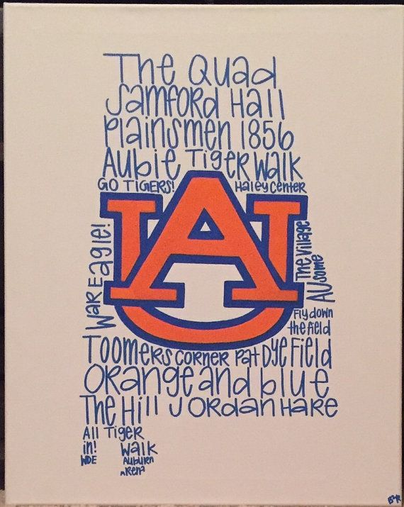 Auburn Phrases Canvas by B2RStudio on Etsy