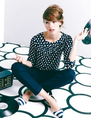 whole outfit is adorable. I really love the Boden style. cute hair too.