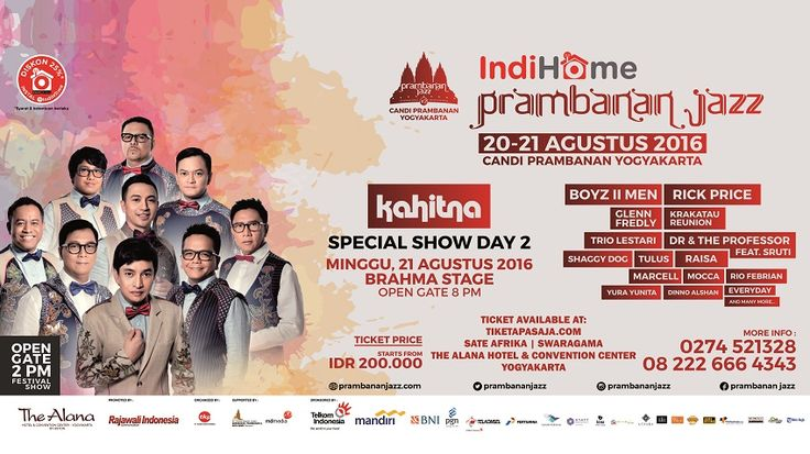Prambanan jazz, ticket is available at The Alana Yogyakarta