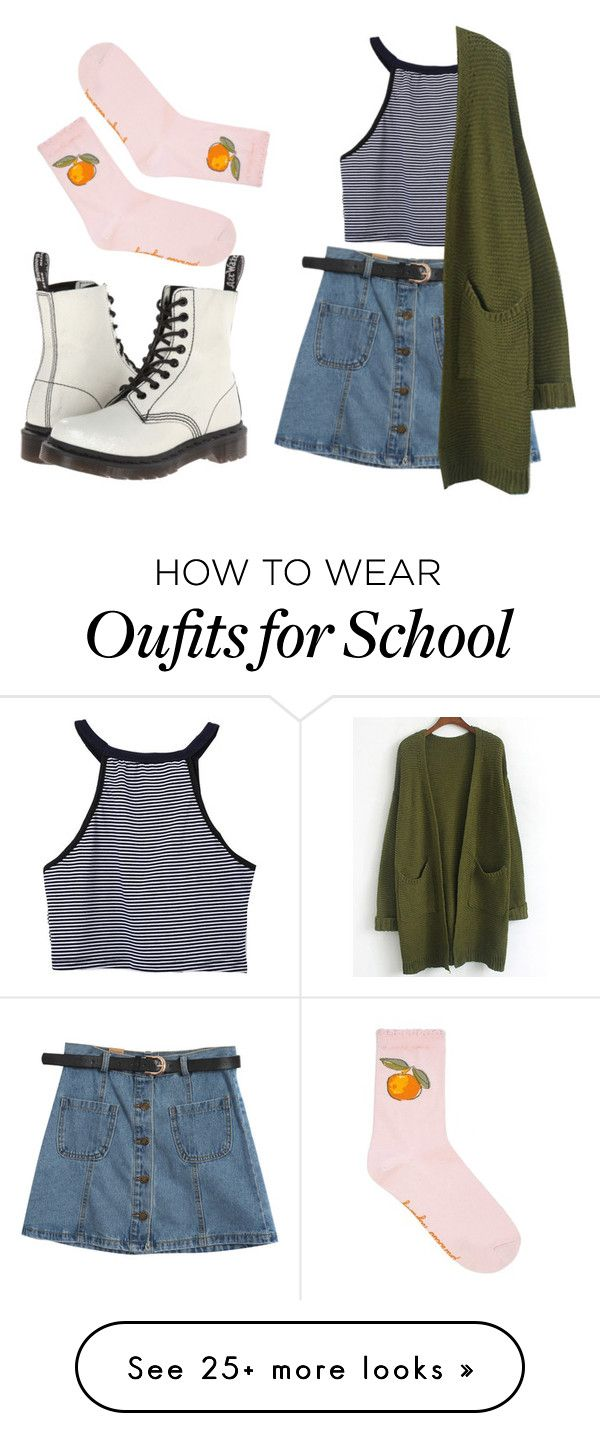 """Go to school"" by sadpigeon2001 on Polyvore featuring Chicnova Fashion and Dr. Martens"