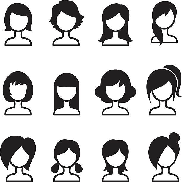 Hairstyles Clipart Womens Hairstyle 5 612 X 612 Dumielauxepices Net Hair Clipart Clip Art Vector Images