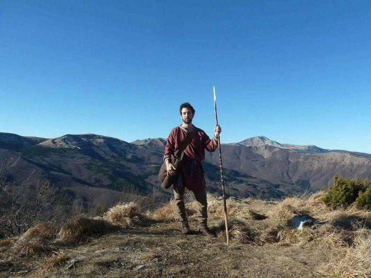 celtic spearman on a mountain