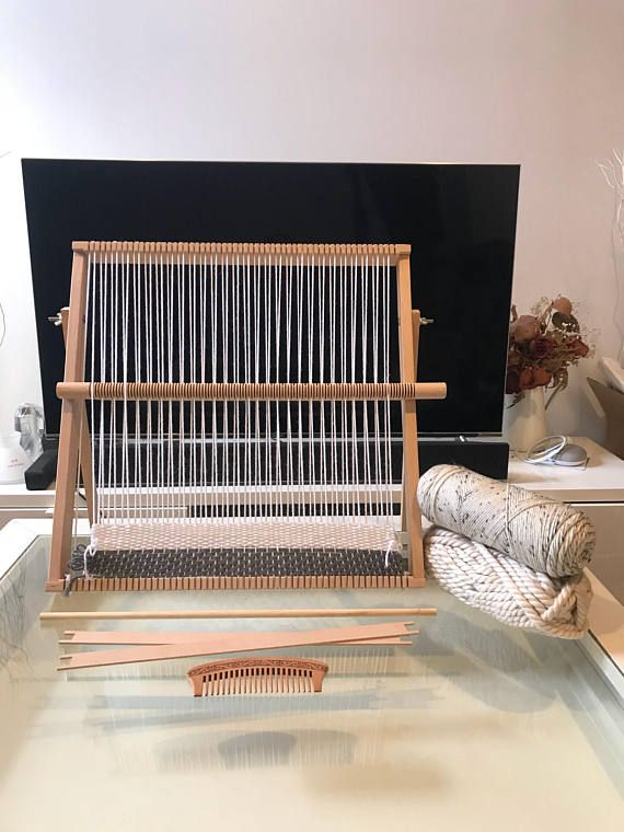 89cm x 87cm XXL Extra Large Weaving Loom Kit Professional Tapestry Loom